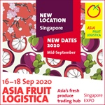 ASIA FRUIT LOGISTICA moves to Singapore for 2020